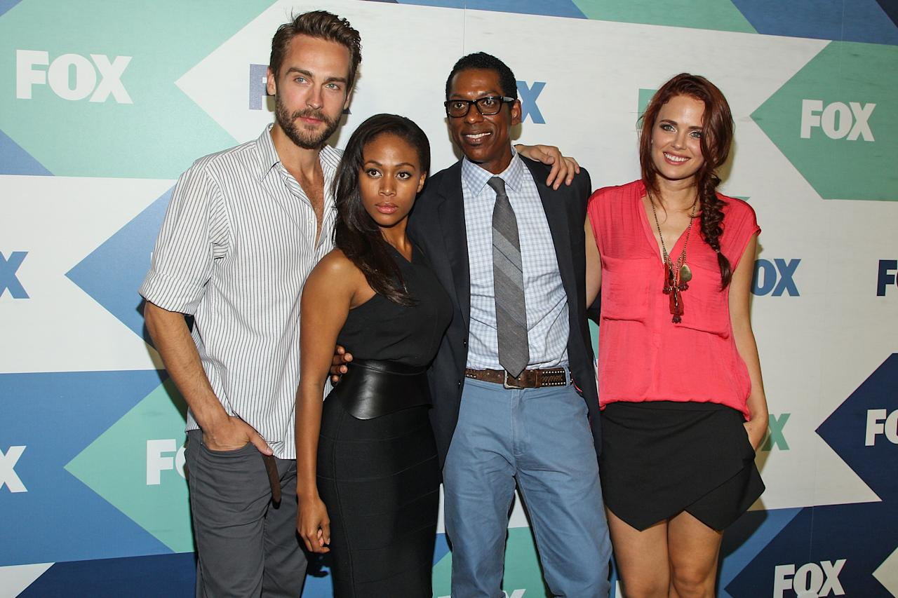 WEST HOLLYWOOD, CA - AUGUST 01: (L-R) Actors Tom Mison, Nicole Beharie, Orando Jones and Katia Winter attend the Fox All-Star Party on August 1, 2013 in West Hollywood, California. (Photo by Paul A. Hebert/Getty Images)