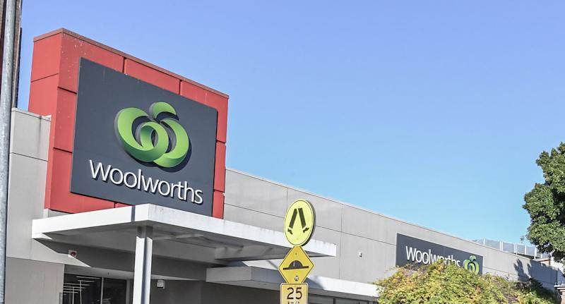 Outside of a Woolworths store shown after out of date Continental beef stock was sold to customer.