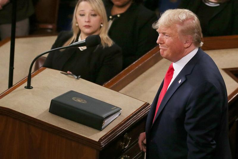 President Donald Trump at Tuesday's State of the Union   Mario Tama/Getty Images