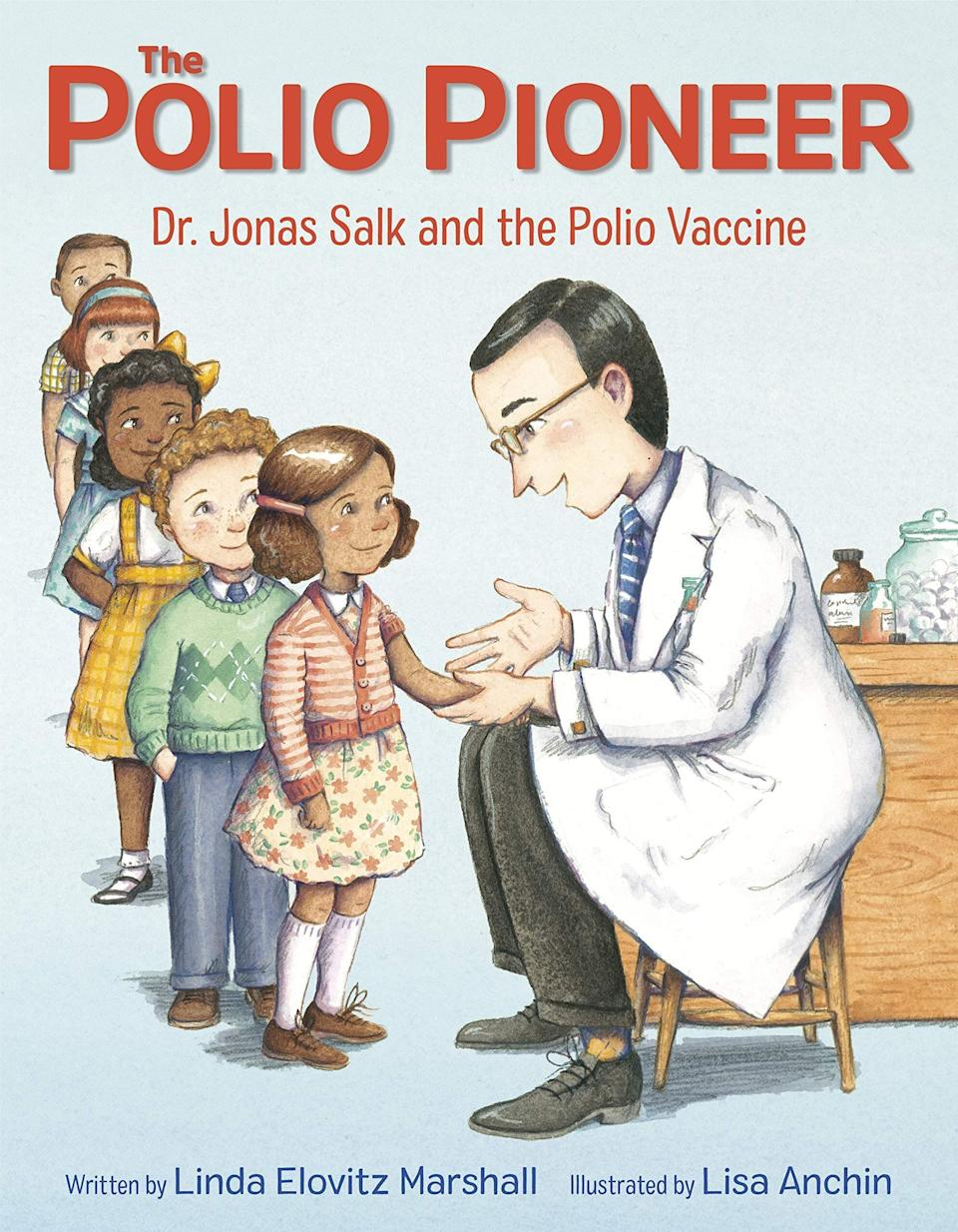 """This book about virologist Jonas Salk offers historical context for the events surrounding the COVID-19 pandemic and the development of vaccines. <i>(Available <a href=""""https://www.amazon.com/Polio-Pioneer-Linda-Elovitz-Marshall/dp/0525646515"""" target=""""_blank"""" rel=""""noopener noreferrer"""">here</a>.)</i>"""