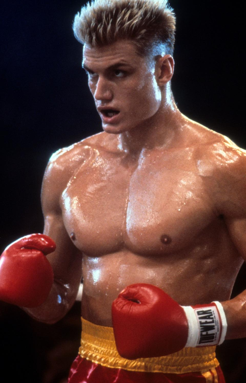 """Lundgren as Ivan Drago in a scene from """"Rocky IV."""" (Photo: United Artists via Getty Images)"""