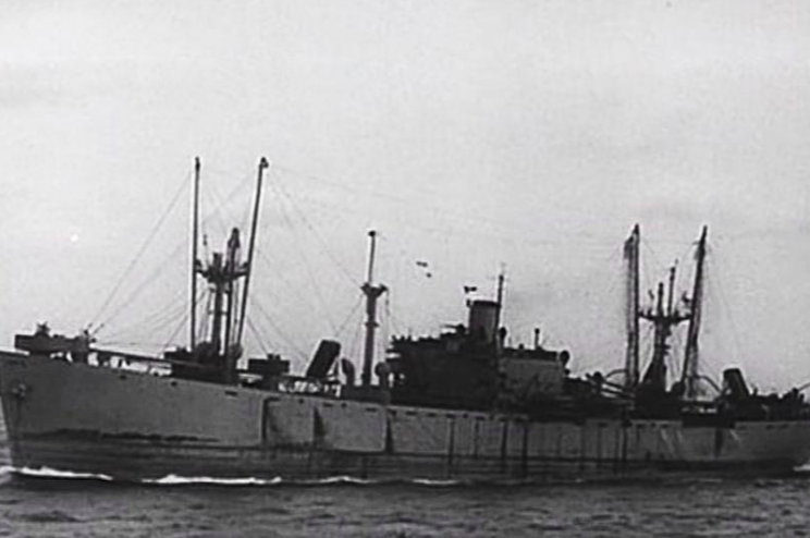 The SS Richard Montgomery sunk off the Kent coast in 1944 (YouTube)