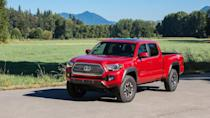 """<p>Number 3: <strong>Toyota Tacoma</strong><br> Average 5-year depreciation percentage: <strong>32.0%</strong></p> <p>""""Toyota and Honda are known for their reliability, and their reputation for dependable pickups helps aid their resale value,"""" said Ly. This is the third Toyota in a row, and it's the top-ranked mid-size truck for resale value.</p> <p>Just half of a percentage point separates the third-place Tacoma from the SUV that sits in second. Click on the image above to see what's next.</p>"""