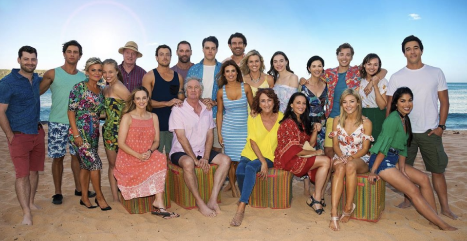 The Home And Away cast as of 2019. Photo: Channel 7.