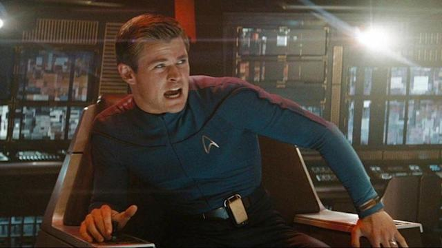 Chris Hemsworth as George Kirk in 2009's <i>Star Trek</i>. (Photo: Paramount)