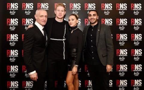 <span>De Bruyne credits his wife Michele with his growing confidence off the field</span> <span>Credit: Roc Nation Sports </span>