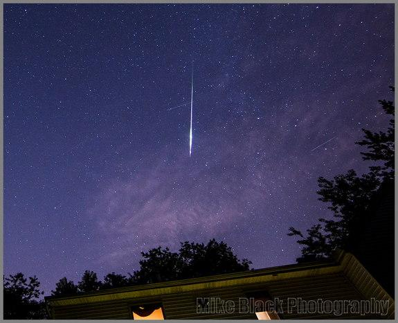 Astrophotographer Mike Black sent in a photo of Perseid meteors taken from Belmar, New Jersey, August 5-6, 2013.