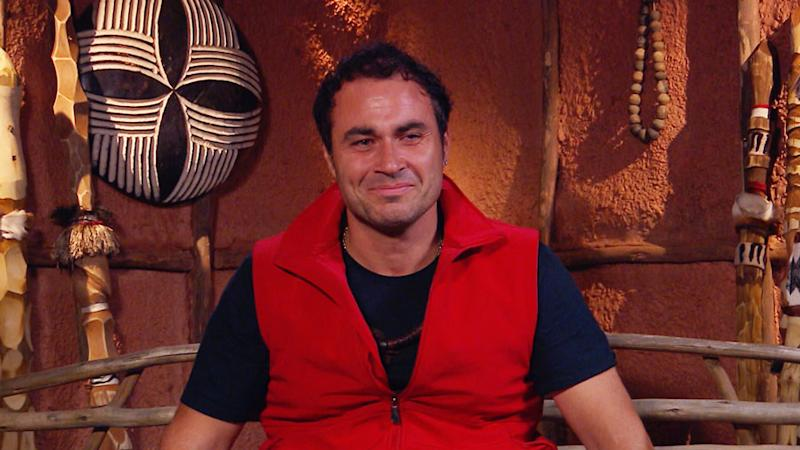 TV chef Miguel Maestre crying on I'm A Celebrity... Get Me Out Of Here.