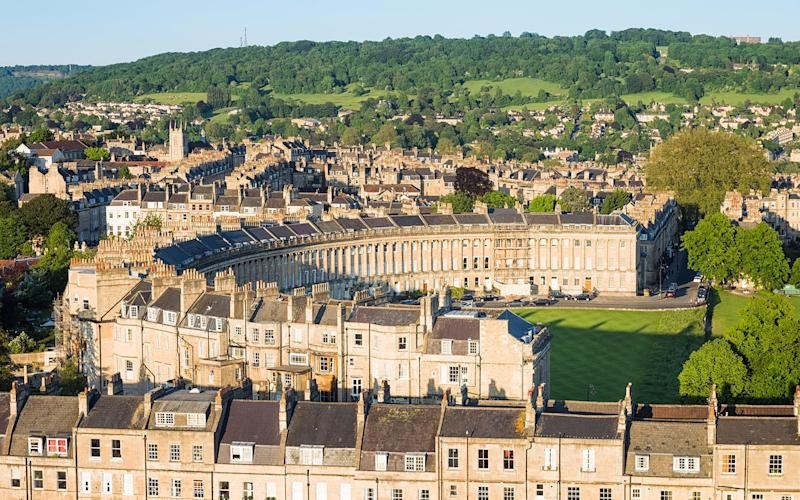 The photogenic Georgian architecture of Bath has a warm, sunny glow - George Clerk