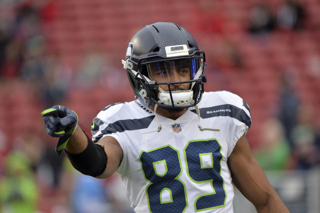 "<a class=""link rapid-noclick-resp"" href=""/nfl/players/25105/"" data-ylk=""slk:Doug Baldwin"">Doug Baldwin</a> suffered a right MCL sprain on Sunday and could miss ""a couple weeks"" according to Pete Carroll. (AP)"