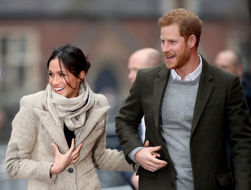 Harry and Meghan looks happy