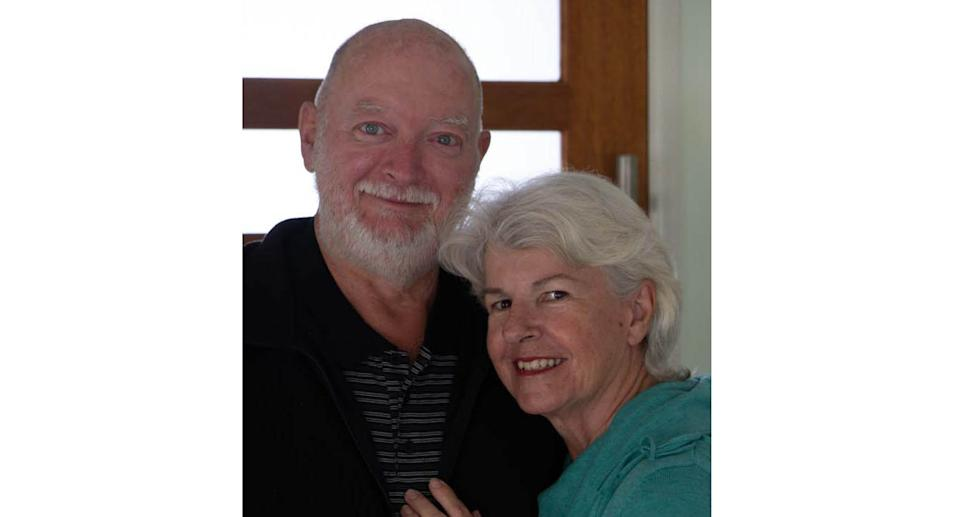 A photo of Moya Jackson and Mark Herron who helped campaign for assisted dying laws in Queensland.