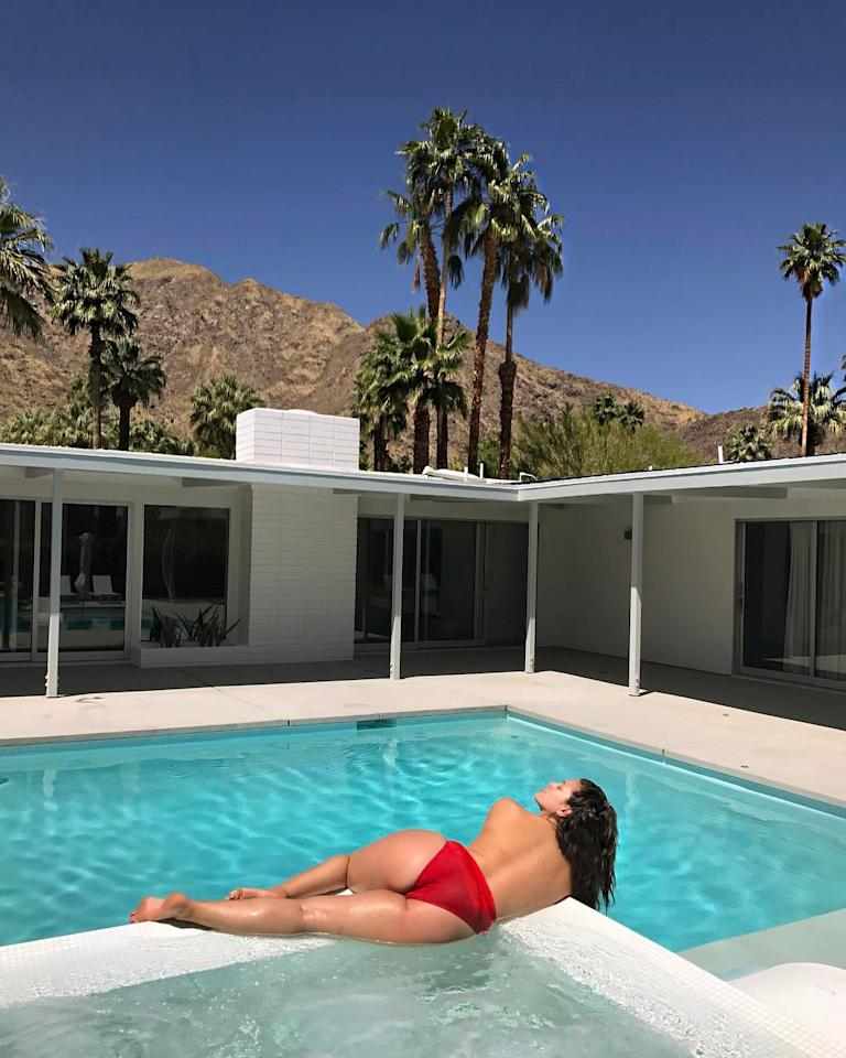 We'll never stop wanting our own private pool for the sole purpose of being able to sunbathe toplessand #FreeTheNip.