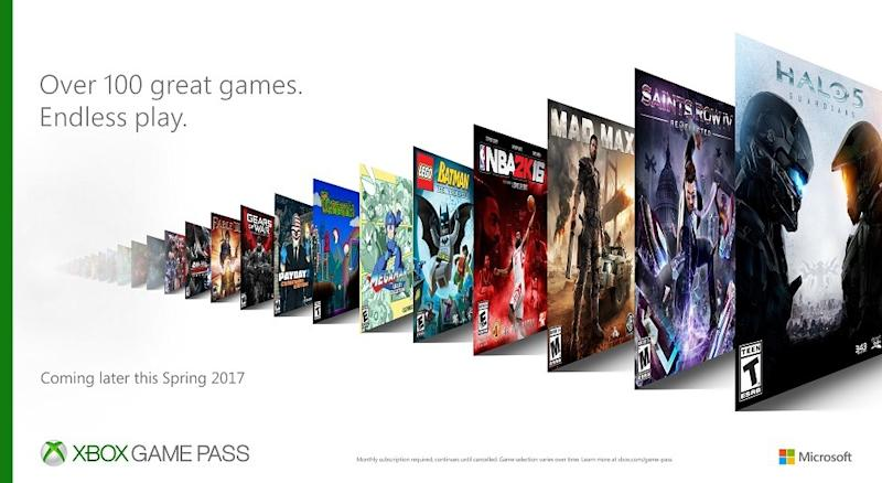 MS announces Xbox Game Pass subscription service