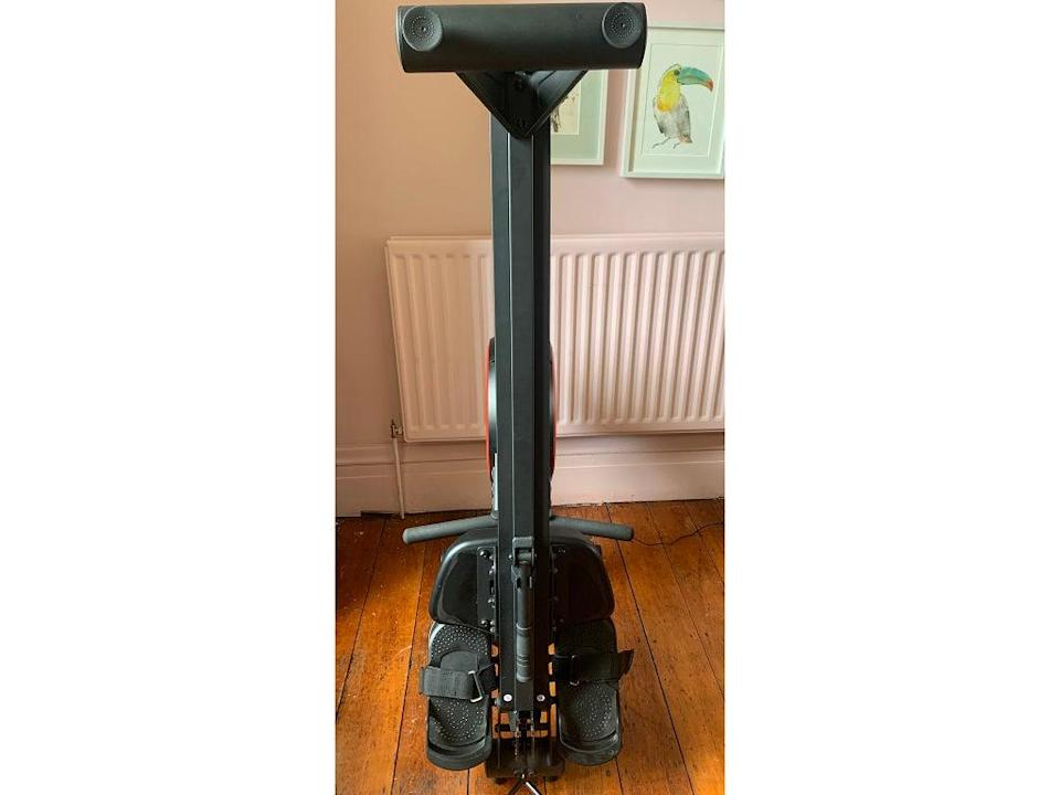 The rower can be folded for easy storage (Eva Waite-Taylor)