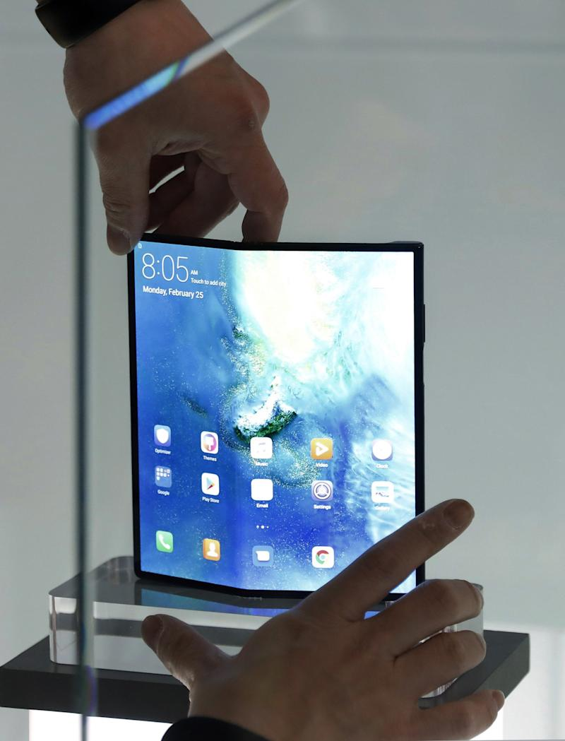 Future versions of Huawei's folding phone may not be able to support Android (EPA)
