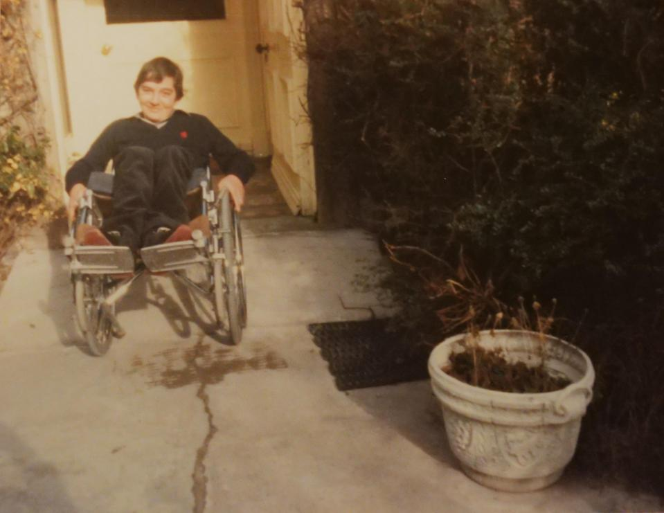 Andrew Slorance, founder of Phoenix Instinct, pictured in a wheelchair