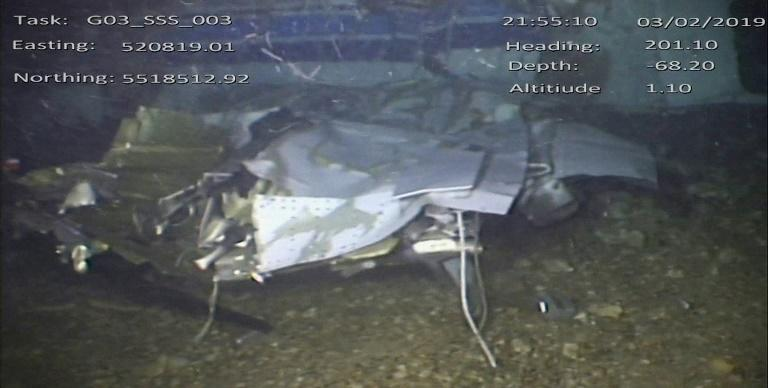 The UK Air Accidents Investigation Branch released pictures of the wreckage of the Piper Malibu that crashed carrying Emiliano Sala (AFP Photo/HO)