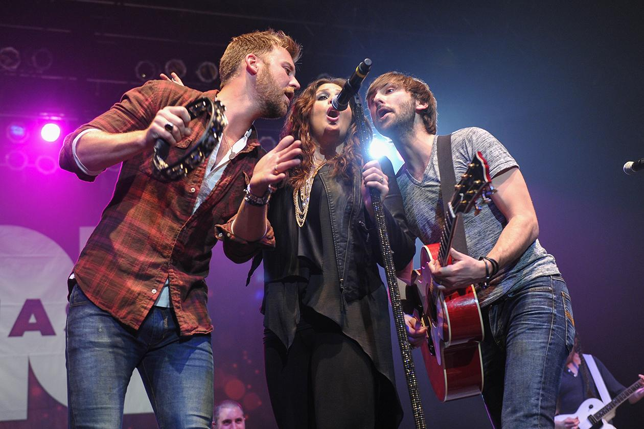 "<b>12. Lady Antebellum - $12,968,992.17</b><br><br>Lady Antebellum, from left, Charles Kelley, Hillary Scott and Dave Haywood perform at NASH FM 94.7's ""NASH BASH"" country music concert at Roseland Ballroom in New York."