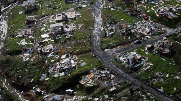 PHOTO: Destroyed communities are seen in the aftermath of Hurricane Maria in Toa Alta, Puerto Rico, Sept. 28, 2017. (Gerald Herbert/AP)