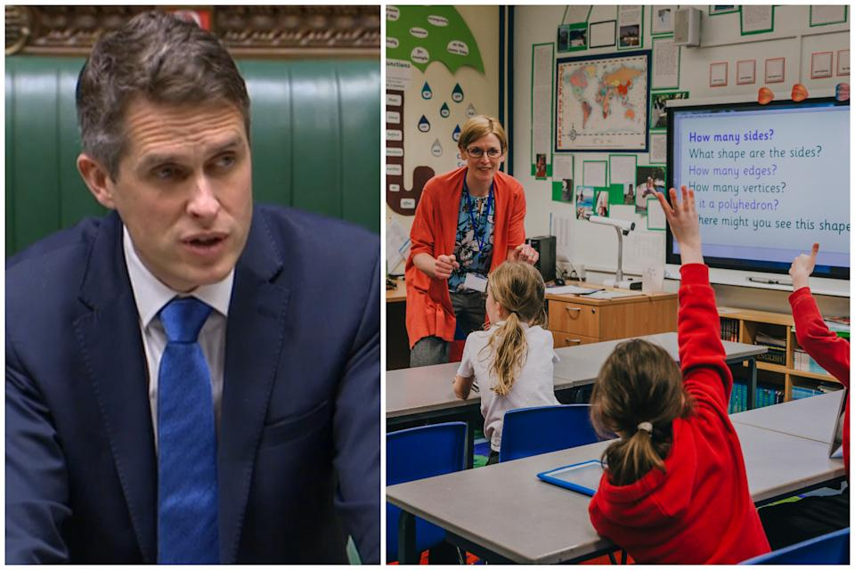 Gavin Williamson's plan to delay the reopening of some primary schools has come under fire. (PA/Getty)