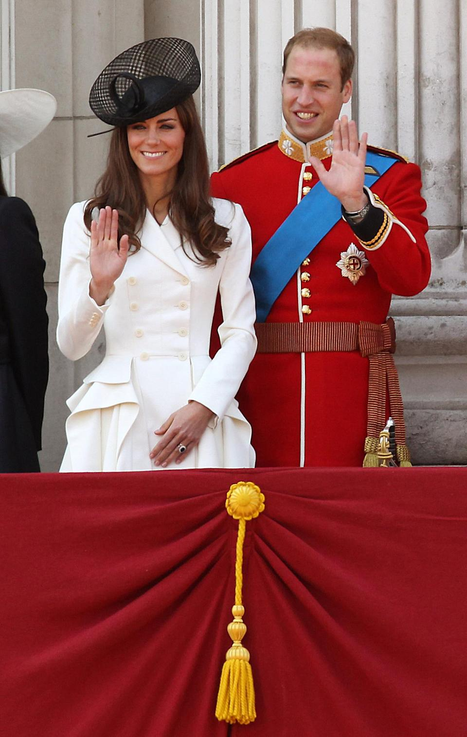The Duke and Duchess of Cambridge attend their first Trooping the Colour as a married couple. (PA Images)