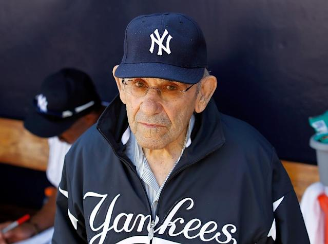 Yogi Berra was a 15-time All Star and 10-time World Series champion, who was inducted into the Hall of Fame in 1972 (AFP Photo/J. Meric)