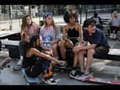 """<p>This movie makes you feel cool just by watching it, and the teen drama follows Long Island teenager Camille after she befriends a group of female skateboarders in NYC. The film is actually inspired by the real Skate Kitchen group of skaters, and it features the group's members playing fictionalized versions of themselves. - TA</p><p><a href=""""https://www.youtube.com/watch?v=iT1izrIxoos"""" rel=""""nofollow noopener"""" target=""""_blank"""" data-ylk=""""slk:See the original post on Youtube"""" class=""""link rapid-noclick-resp"""">See the original post on Youtube</a></p>"""