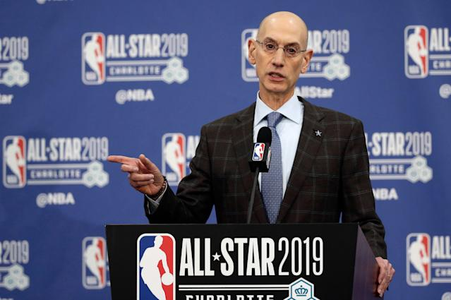 Adam Silver doesn't think tampering has gotten worse in the NBA. (AP Foto/Gerry Broome, Archivo)