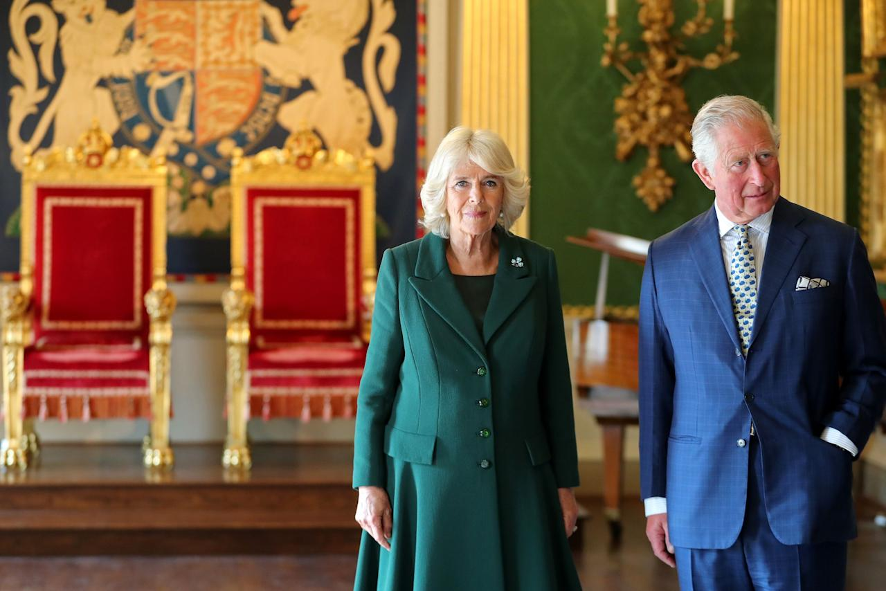 """<p>From royal weddings and black tie events to international tours of the Commonwealth, <a href=""""http://www.townandcountrymag.com/society/a9961113/prince-charles-camilla-parker-bowles-relationship/"""" target=""""_blank"""">Camilla Parker Bowles</a> carries out a number of official duties-and she has to look the part of the wife of the future King of England. Unlike the Queen-and her step-daughter-in-law Kate-the Duchess of Cornwall usually steers clear of bright colors, favoring neutrals, pastels, and navy-with the occasional pop of bright blue. But when it comes to hats, she's not afraid to make a bold statement.</p>"""