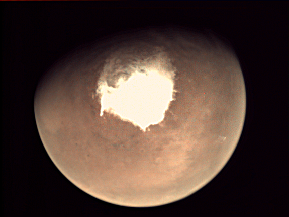 An image of Mars taken by ESA's Mars Express.