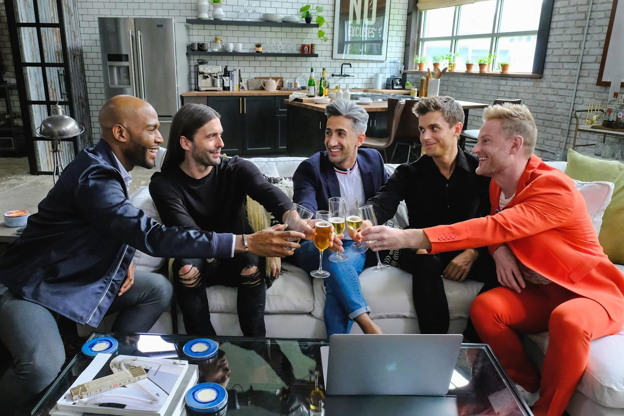 """<p>If you're feeling short on positive juju, this is the show that'll give you faith in humanity again. In this heartwarming reboot of <strong>Queer Eye For the Straight Guy</strong>, the Fab Five - Karamo, Jonathan, Tan, Antoni, and Bobby - give ruffled-up men complete life makeovers to help them become their best selves. </p> <p><a href=""""http://www.netflix.com/title/80160037"""" target=""""_blank"""" class=""""ga-track"""" data-ga-category=""""Related"""" data-ga-label=""""http://www.netflix.com/title/80160037"""" data-ga-action=""""In-Line Links"""">Watch it now.</a></p>"""