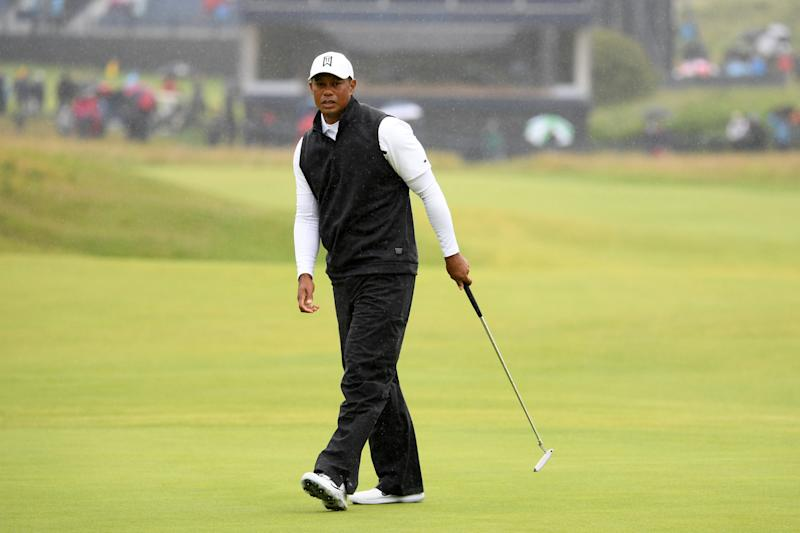 Tiger Woods at Royal Portrush in July. (Getty)