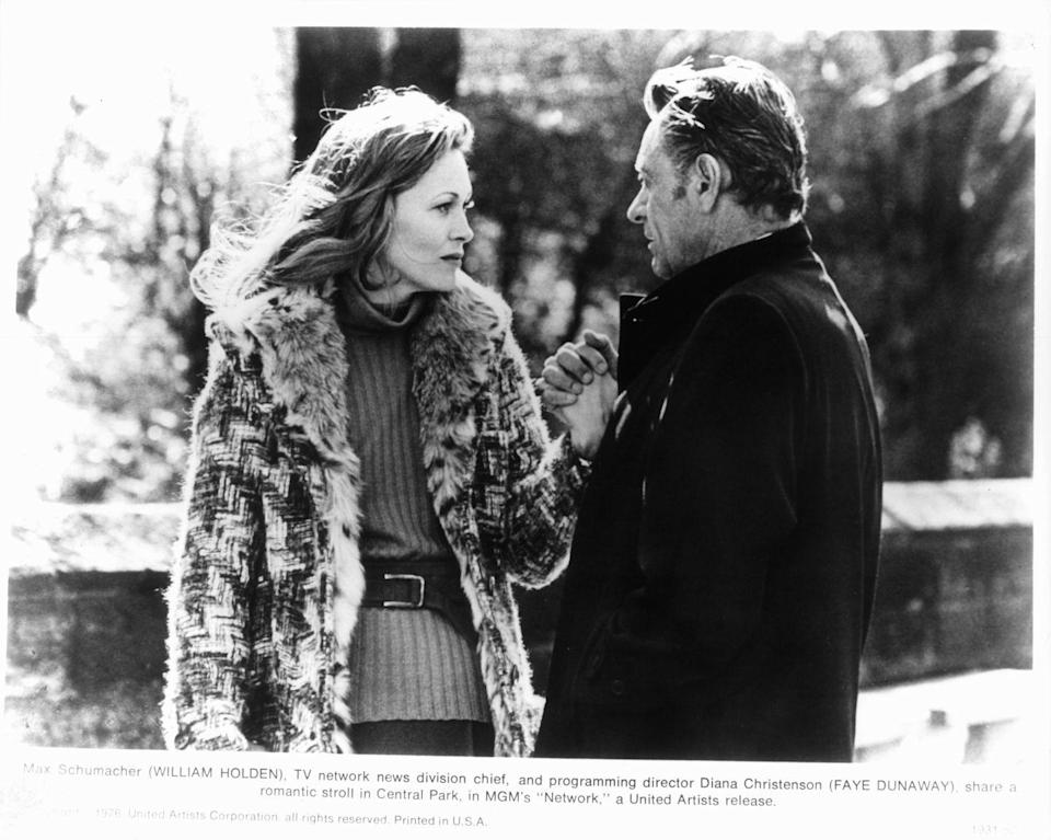 <p>Faye Dunaway's turn as a high-power news woman in <em>Network </em>earned her an Oscar—and a place in the pantheon of of fall fashion inspo.</p>
