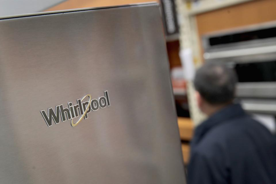 CHICAGO, IL - OCTOBER 24:  Whirlpool appliances are offered for sale alongside other brands at a Home Depot store on October 24, 2017 in Chicago, Illinois. Sears Holdings announced it is cutting ties with Whirlpool and will no longer sell the company's appliances. Whirlpool brands include Whirlpool, KitchenAid, Maytag, Amana, Jen-Air and others.  (Photo by Scott Olson/Getty Images)