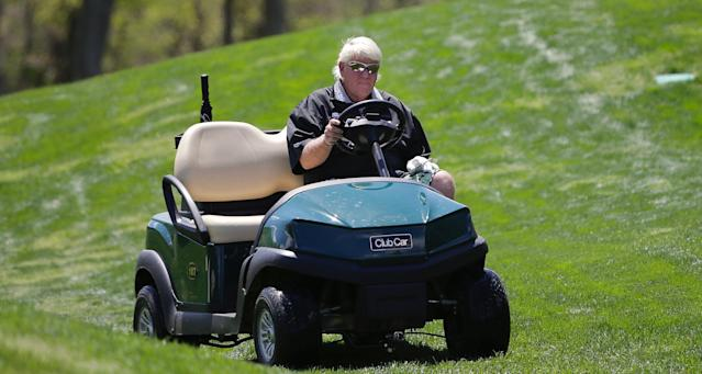 Even John Daly isn't a fan of John Daly using a cart at this week's PGA Championship. (AP)