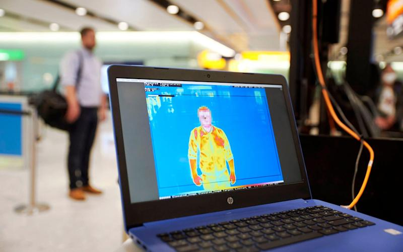 Temperature screening equipment is trialled at London Heathrow Airport - LHR Airports Ltd/PA