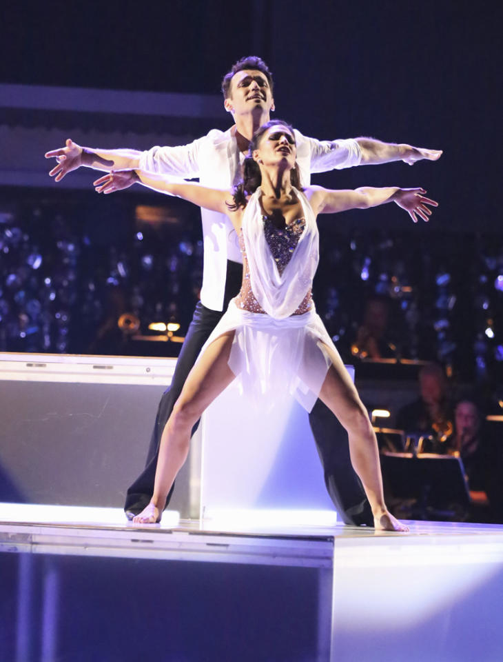 "Tony Dovolani and Melissa Rycroft perform on ""Dancing With the Stars: All-Stars."""