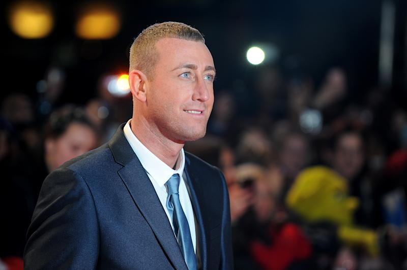 X Factor contestant Christopher Maloney arriving for the premiere of The Twilight Saga: Breaking Dawn Part 2 at the Empire and Odeon Leicester Square, London (Photo by Dominic Lipinski/PA Images via Getty Images)
