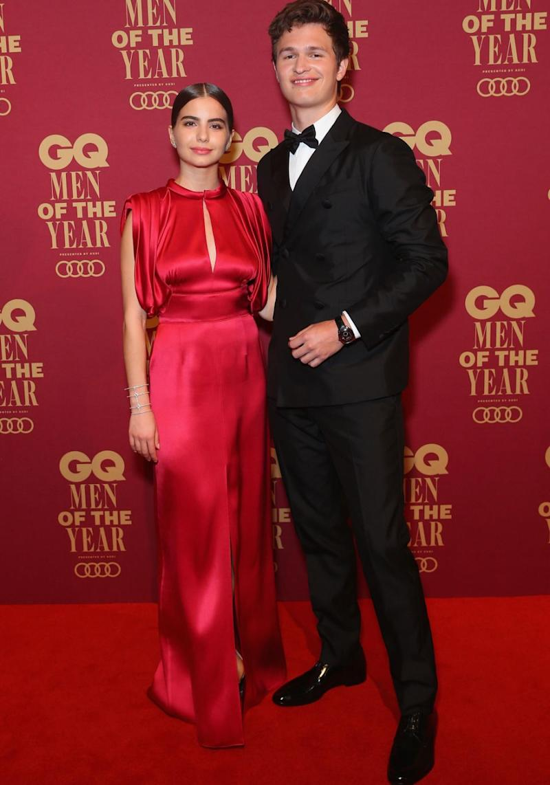 70d093db523 Ansel attended the GQ Men of the Year awards with his gorgeous girlfriend  Violetta Komyshan.
