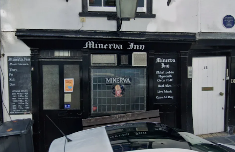 The Minerva Inn in Plymouth, Devon, has banned unvaccinated customers. (Google)