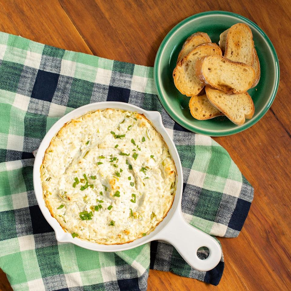 <p>Creamy, cheesy and tangy—this super-easy warm dip has everything you love about jalapeño poppers without the individual prep work. And it's better for you, thanks to the riced cauliflower stirred into every spoonful. Adjust the level of heat to your tastes with either mild or spicy pickled jalapeños. If you prefer smaller pieces of the hot pepper, feel free to chop the jalapeños.</p>