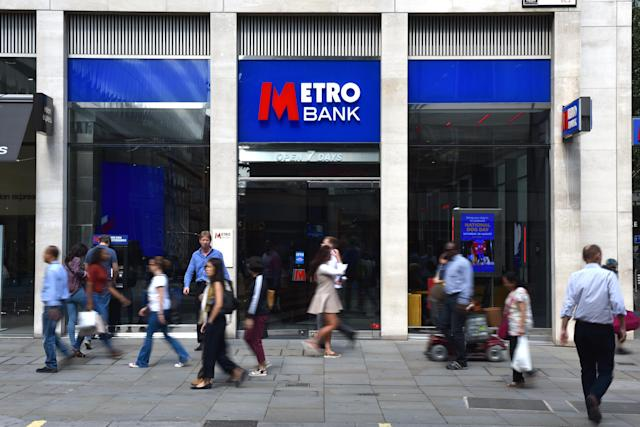 A Metro Bank branch on Cheapside in London, England. (John Keeble/Getty Images)