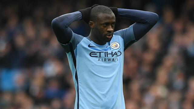 Manchester City midfielder Yaya Toure is glad he does not have to defend under Pep Guardiola as he targets a top-four finish this season.