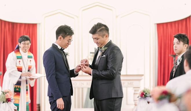 The marriage between Edgar Ng and Henry Li is not presently valid in Hong Kong. Photo: Handout