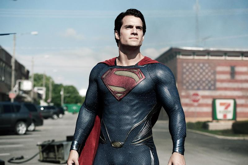 """This film publicity image released by Warner Bros. Pictures shows Henry Cavill as Superman in """"Man of Steel."""" Warner Bros. enlisted Christian-focused marketing firm Grace Hill Media to promote """"Man of Steel"""" to faith-based groups by inviting them to early screenings and creating trailers that highlight the film's religious themes. They also enlisted a Pepperdine University professor to create a Superman-centric sermon outline for pastors. The tale of Superman has long been associated with religious allegories. """"Man of Steel"""" doesn't shy away from that theme, including portraying the character as 33 years old and having him seek counsel at a church in a time of crisis.  (AP Photo/Warner Bros. Pictures, Clay Enos)"""