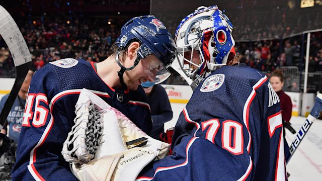 Joonas Korpisalo and a host of relatively anonymous players have been key to the Columbus Blue Jackets turning their season around. (Jamie Sabau/NHLI via Getty Images)