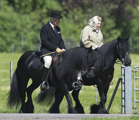 Queen Elizabeth II Spotted Riding A Horse