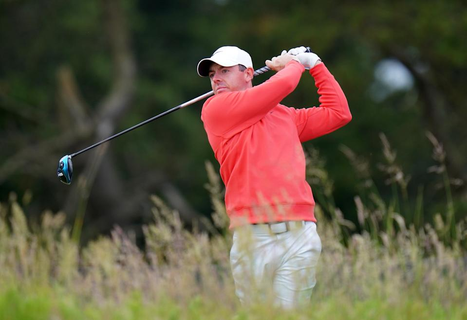 Rory McIlroy in action in Aberdeen (PA Wire)