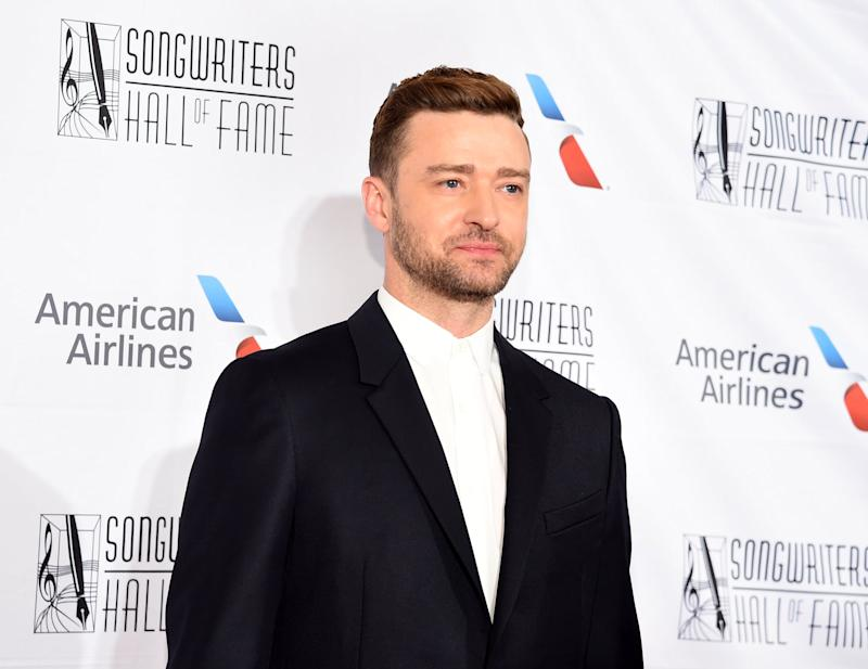 NEW YORK, NEW YORK - JUNE 13: Justin Timberlake attends the 2019 Songwriters Hall Of Fame at The New York Marriott Marquis on June 13, 2019 in New York City. (Photo by Jamie McCarthy/FilmMagic)